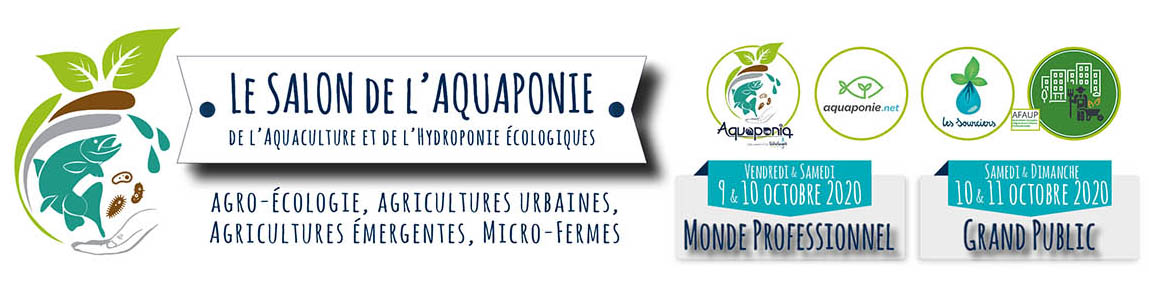 Aquaponia Aquaponie net les sourciers afaup Salon Aquaponie sur Echologia 2020 v7LD TICKET